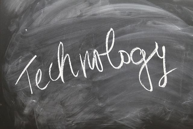Technology Written on a Blackboard