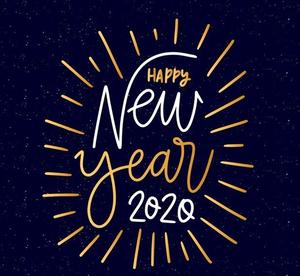 image that says Happy New Year 2020