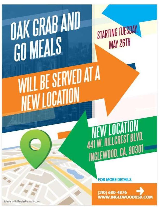 Meal Distribution Moving from Oak