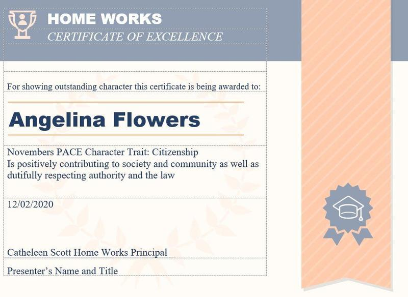 November PACE Character Trait is - CITIZENSHIP Thumbnail Image