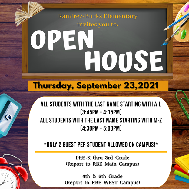 rbe open house information