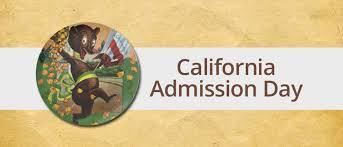 California Admission Day is Friday, August 30th!  School will be closed! Thumbnail Image