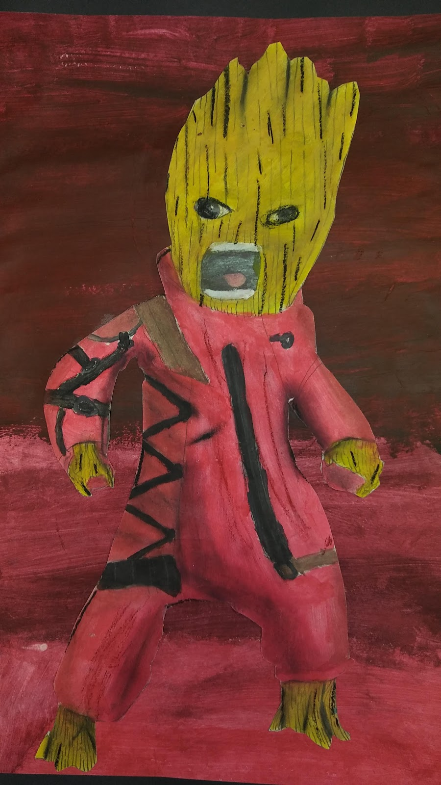 Landmark Student Drawing of Baby Groot