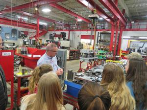 Students take a tour of the Middleville Tool and Die facility.