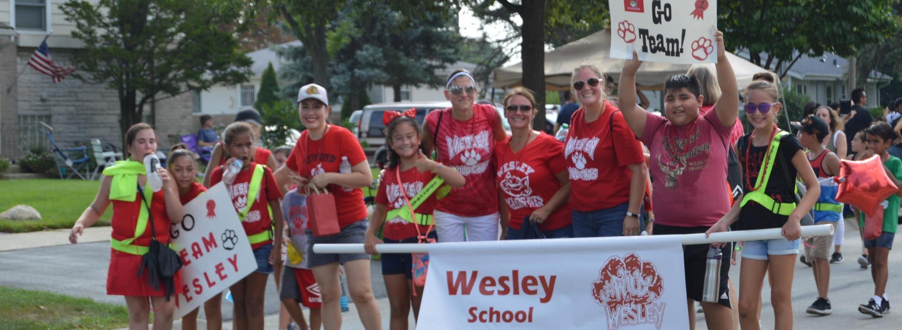Wesley in parade