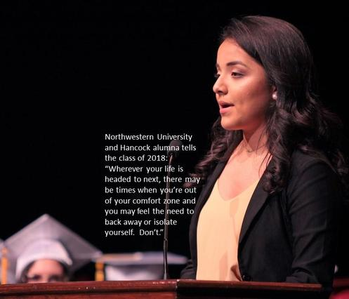 JHCP graduate Osbeyda Navarrete speaks at commencement.