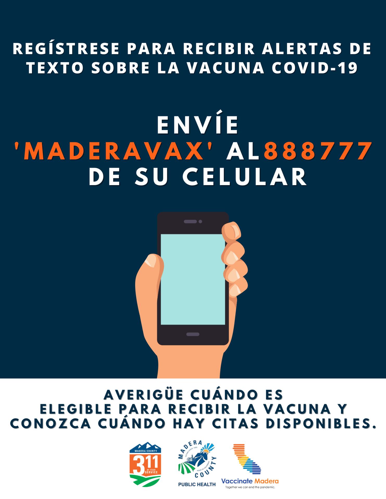 Vaccine Text Alerts - Spanish