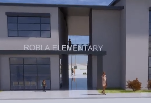 Robla Elementary front entrance drawing