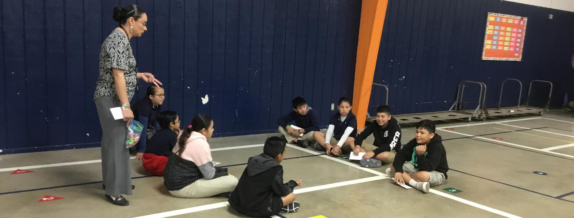Image of students reviewing Science Vocabulary