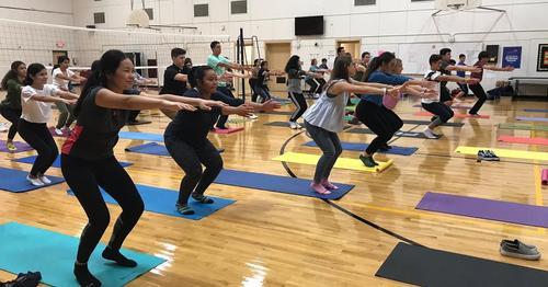 Yoga at Lamar Academy