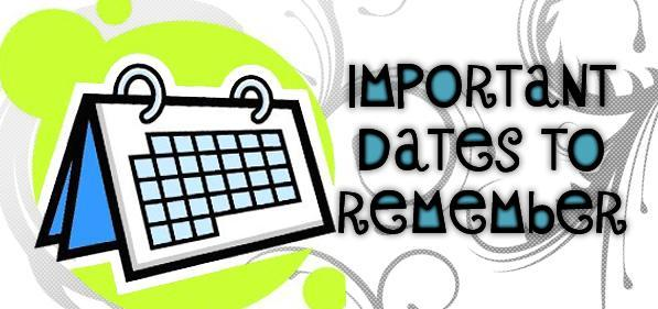 Dates to remember clip art