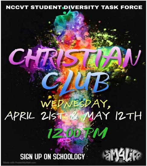 Christian Club meeting flyer