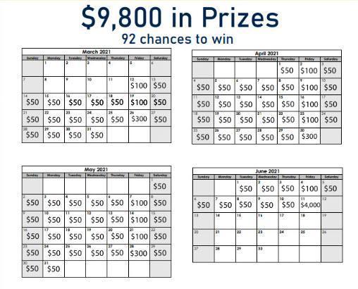 Calendar Prize List
