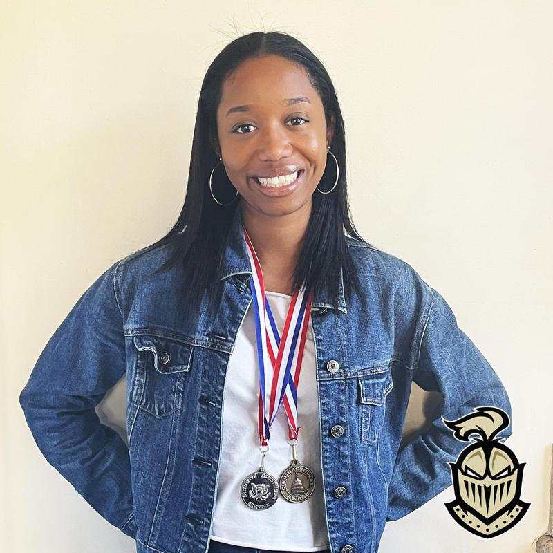 Anaiya Abney '21 Awarded the Bronze and Silver Congressional Medals Thumbnail Image