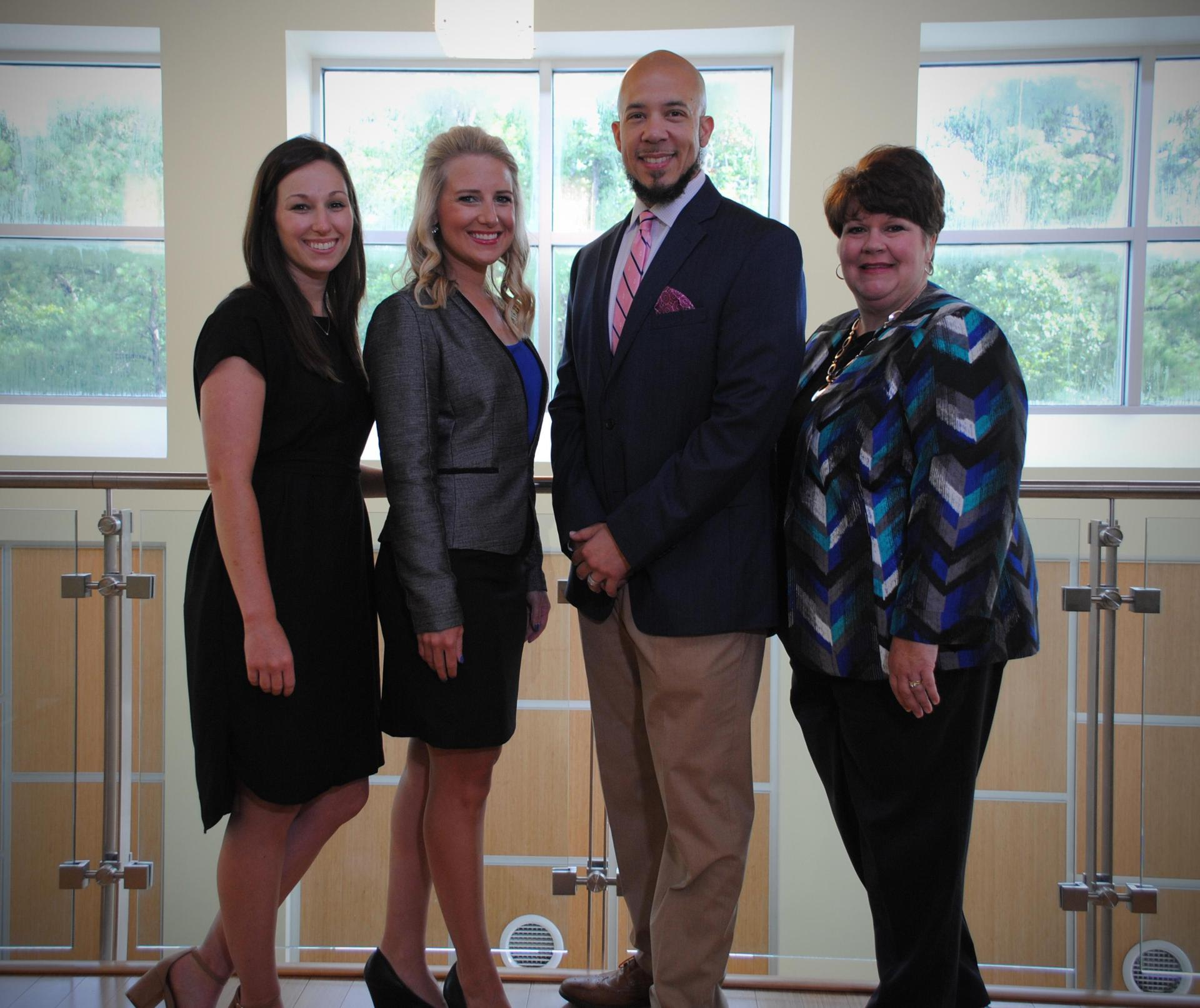 Megan McCormack, Jaynie Payne, Dr. Chris Williams, and Lori Brennan