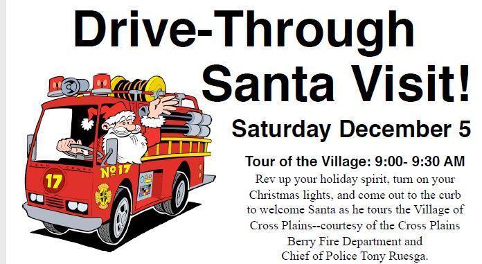 Drive Thru Santa Visit This Saturday 9am Thumbnail Image