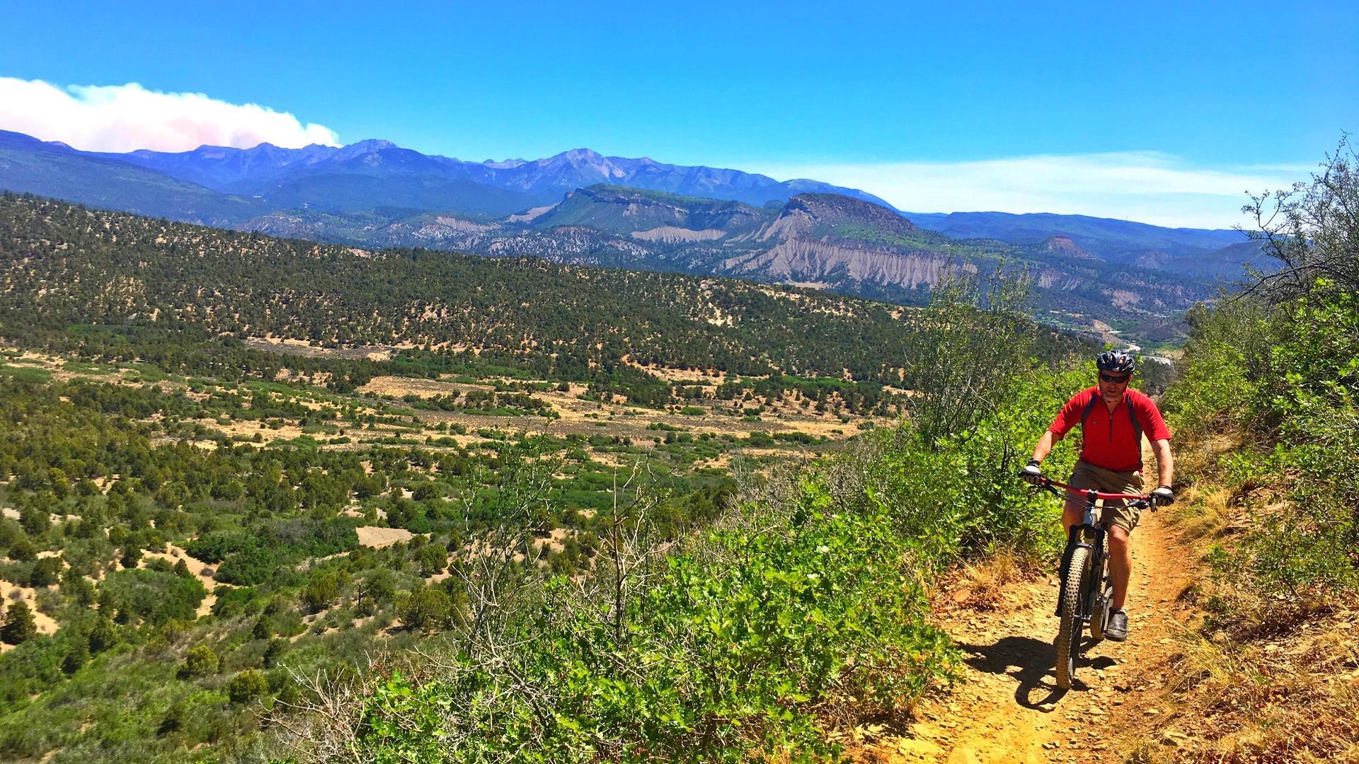 Mr. Plemons mountain biking in Durango, Colorado