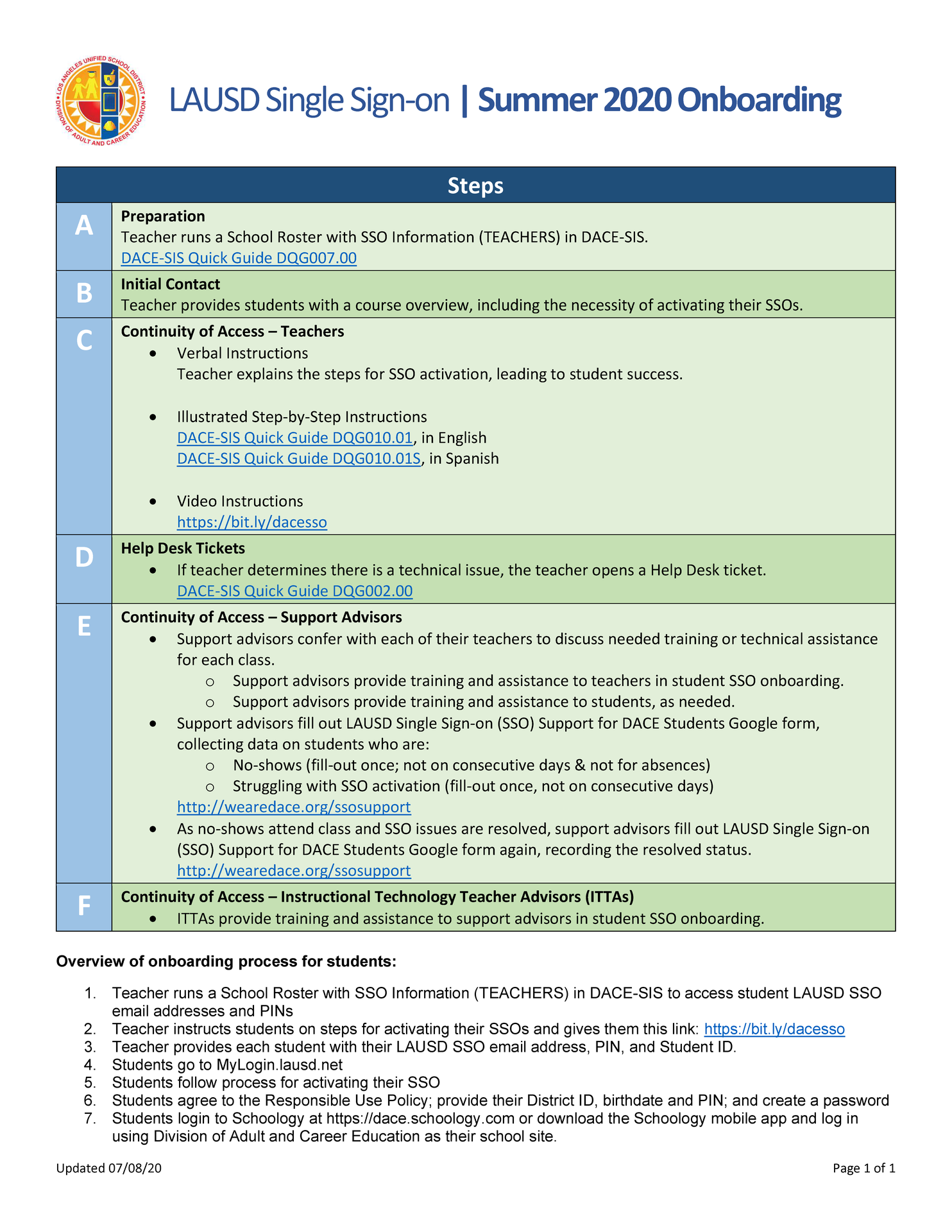 LAUSD Single Sign-on | Summer 2020 Onboarding thumbnail