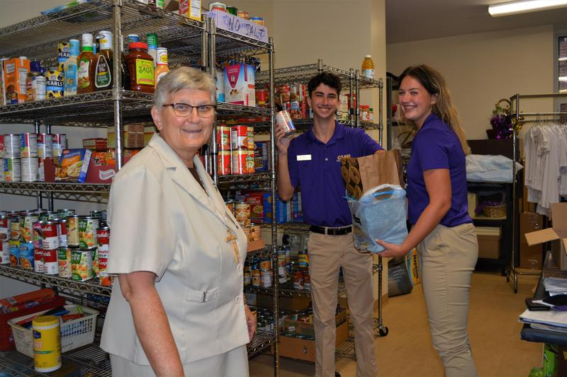 Sr. Francine Horos in Our Lady's Food Pantry