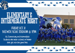 Elementary and Intermediate Night October 8