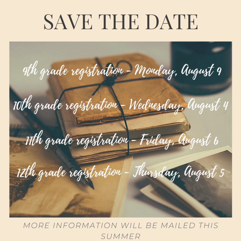 Summer Registration Dates - Save the Date! Thumbnail Image