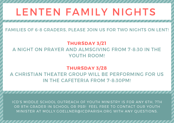 Youth Ministry Upcoming Events Featured Photo