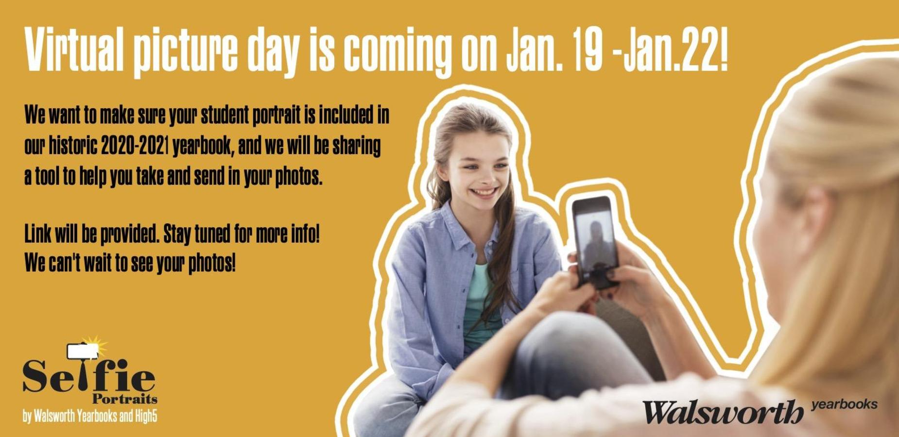 Virtual picture day Jan. 19-22
