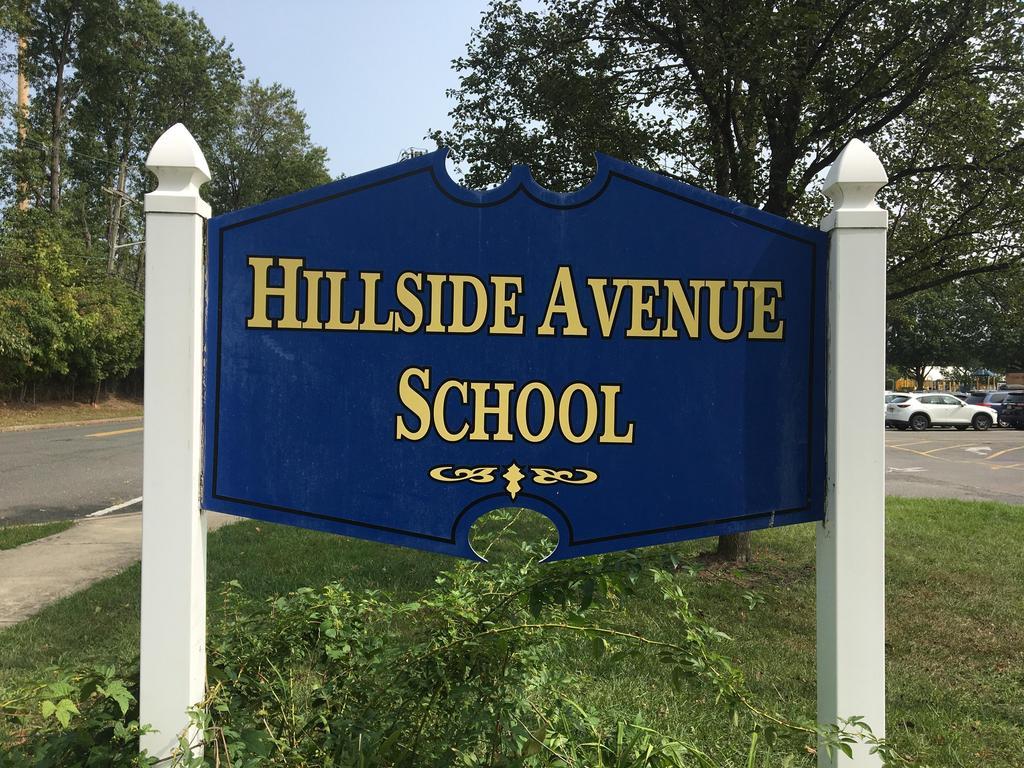 Hillside Avenue School sign