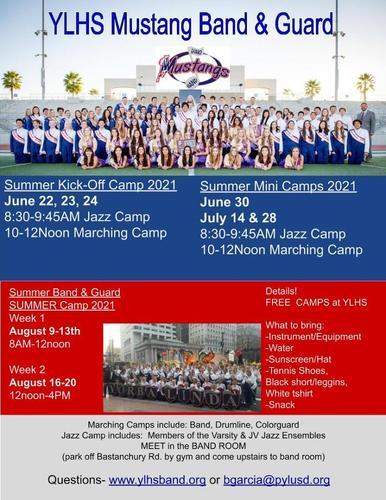 Mustang Band & Guard Summer Dates