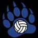 Bear paw volleyball clip art