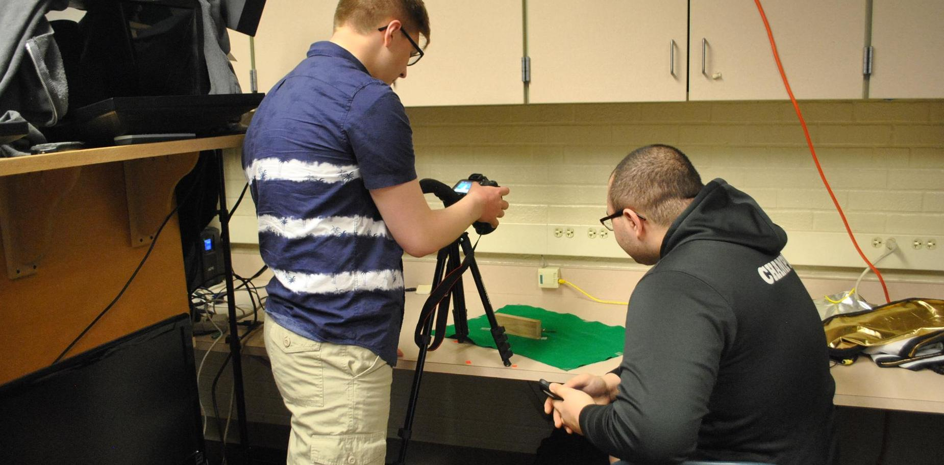Students in Video Production class