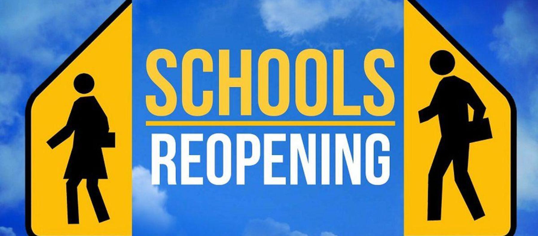 schools reopening web banner