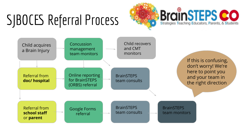 Flow Chart of Referral Process to access Brain Steps Team