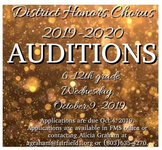 FCSD Honors Chorus Auditions Featured Photo