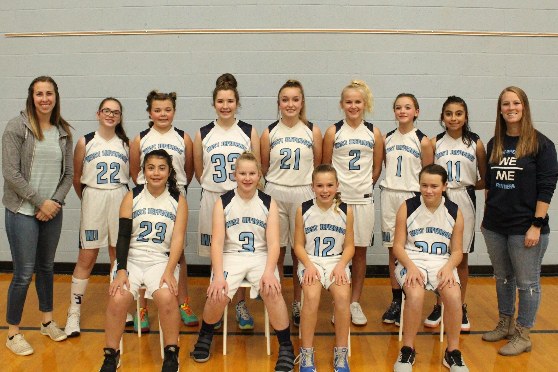7th Grade Girls Bball Team