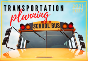 Front of School Bus with header