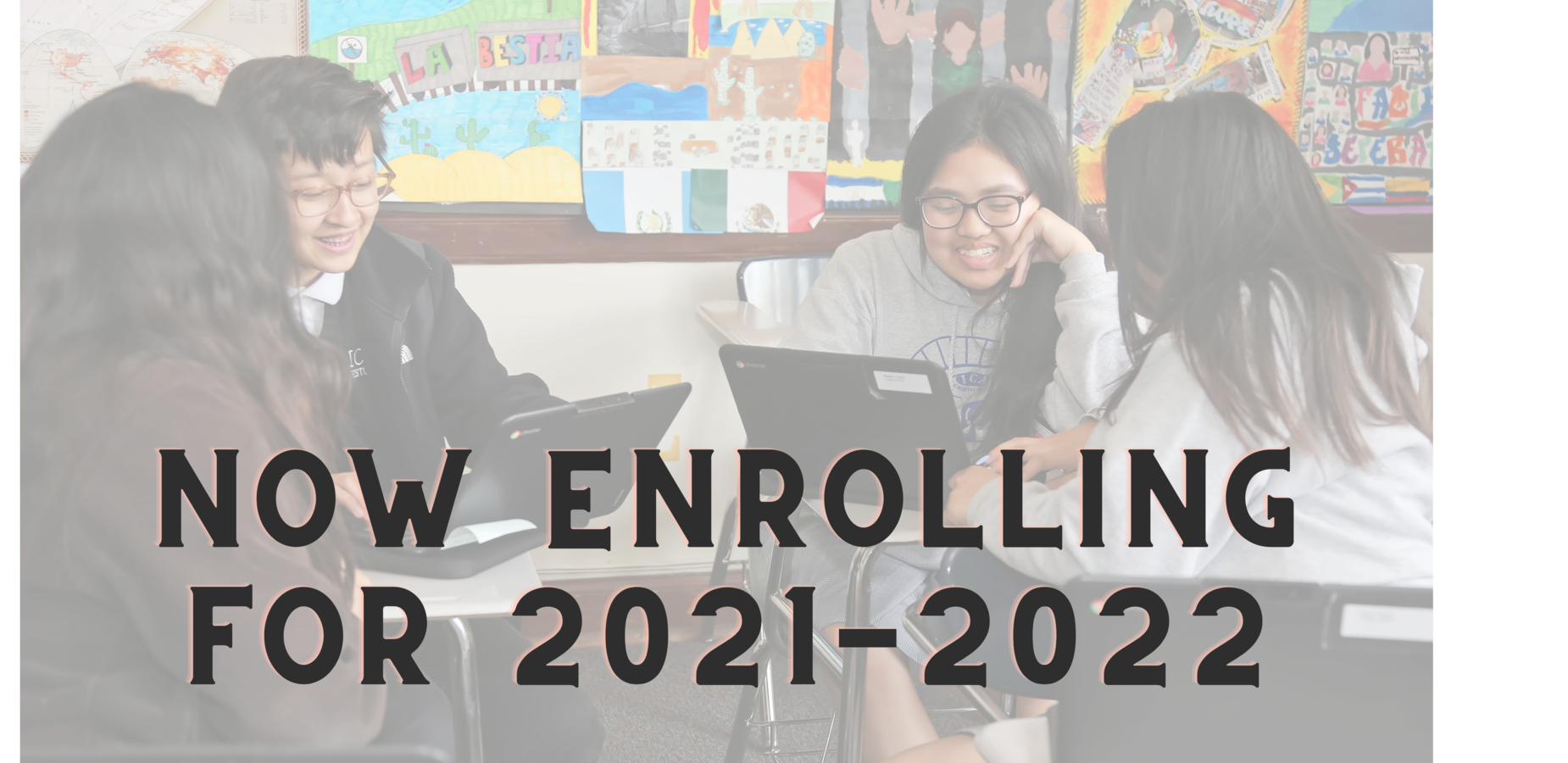 4 students with now enrolling for 2021-2022 message