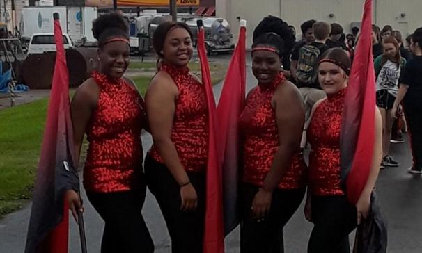 PORT BARRE HIGH SCHOOL FLAG/COLOR GUARD TEAM