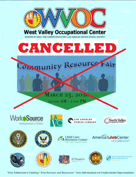 The Community Resource Fair has been cancelled #COVID-19.