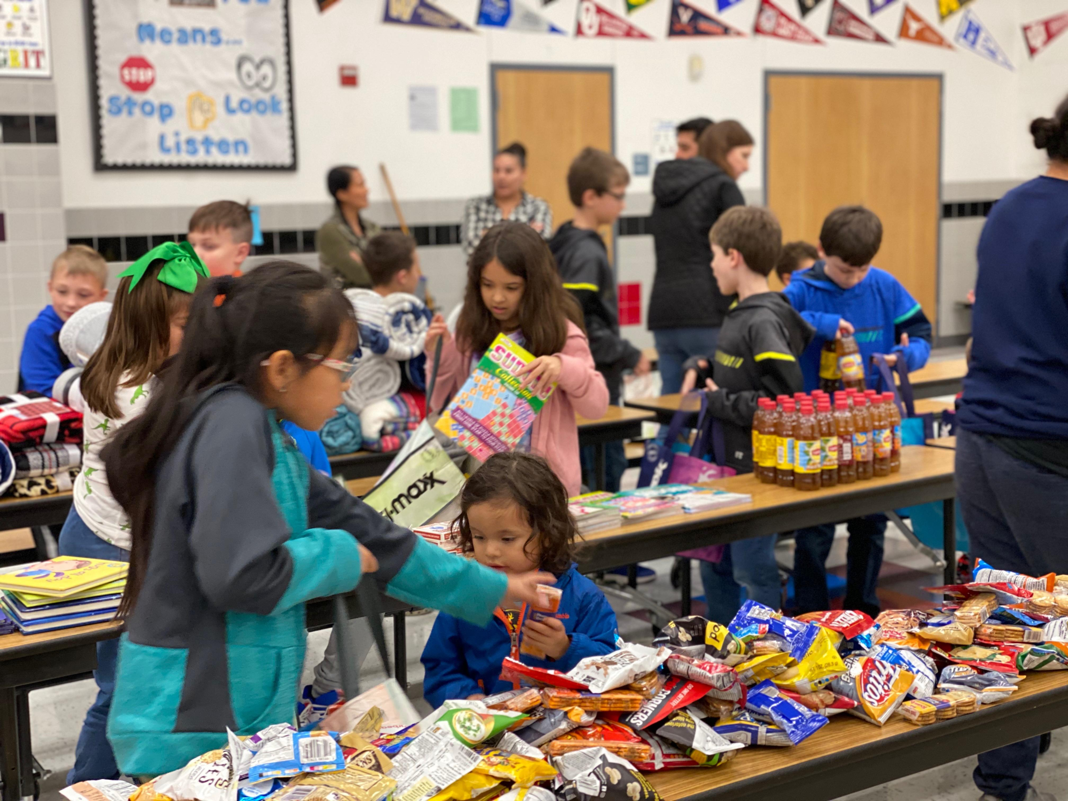 A group of third graders at the North Elementary STEAM Academy recently challenged the community to donate items and make care packages for the parents of NICU babies at Baylor Scott and White Hospital in Fort Worth.