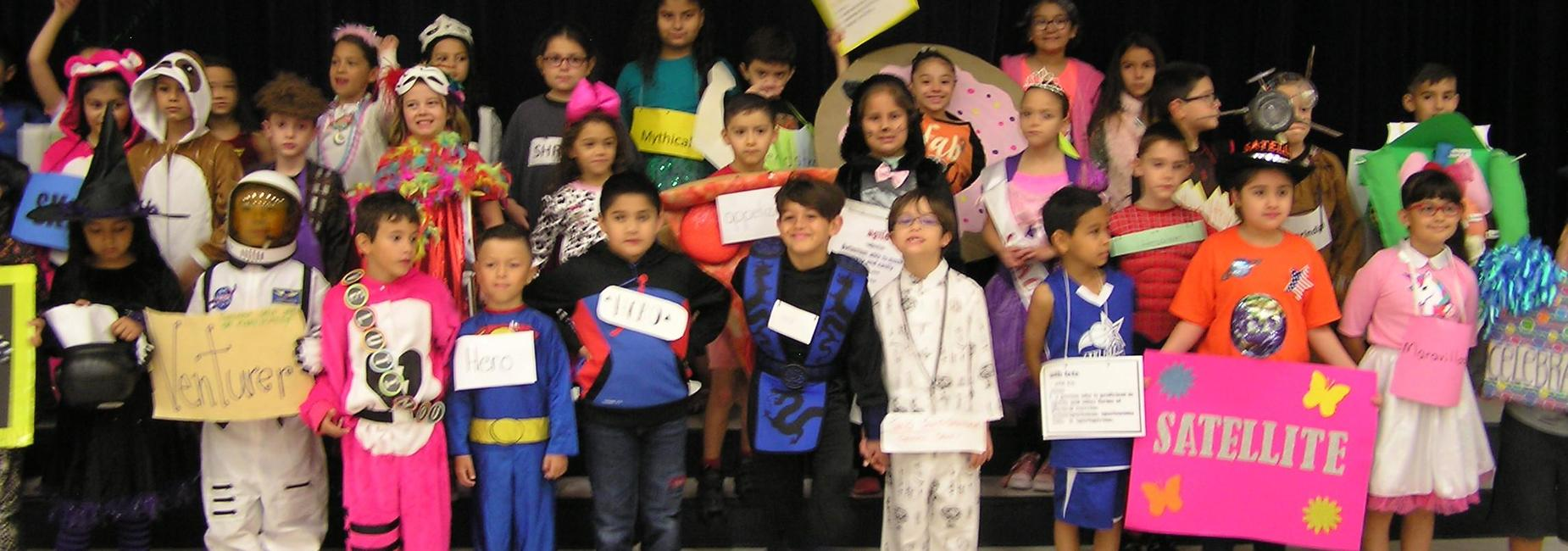 Second grade students who participated in the vocabulary parade