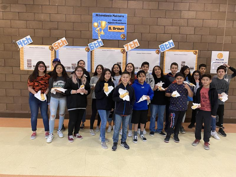 Congratulations to Mr. Bryce Brown's 7th Grade Class for Top Attendance for Month 6! Thumbnail Image