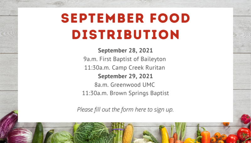 September Food Distrubution