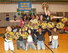 This 2007 rally photo of our cheerleaders