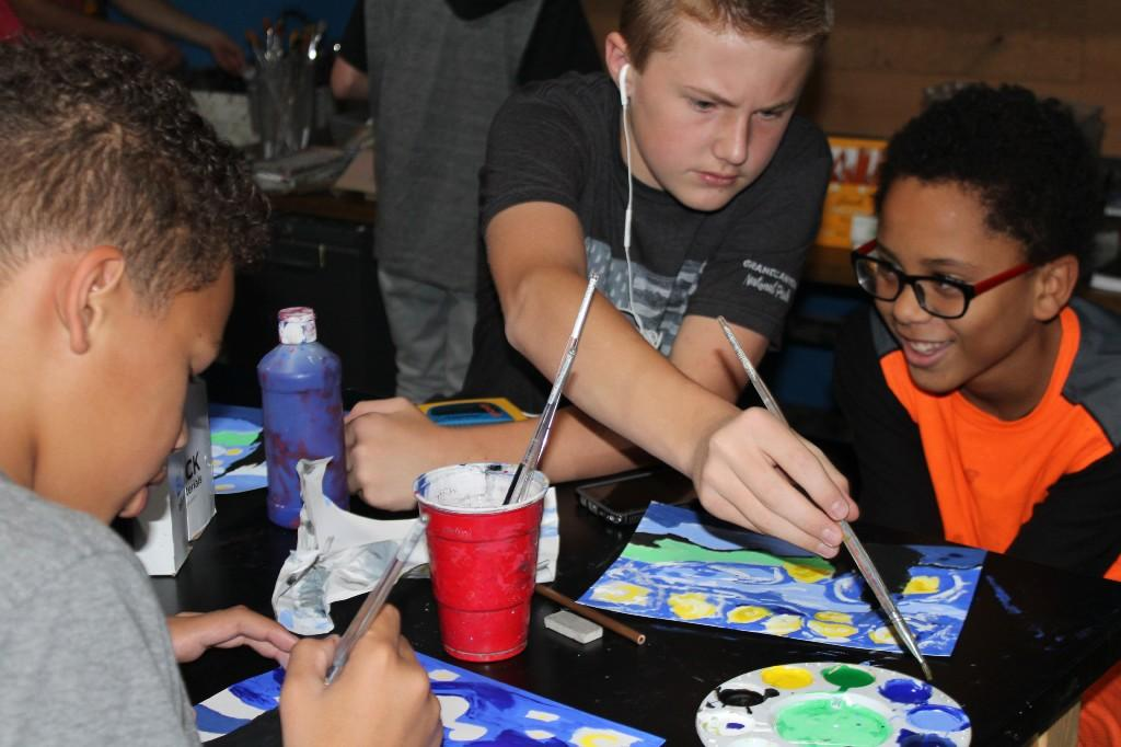 Painting students are challenged to recreate a famous painting of their choice.