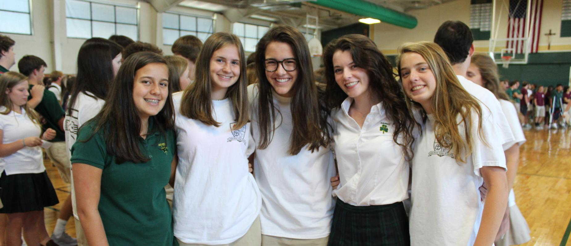 Students from the Assisi house