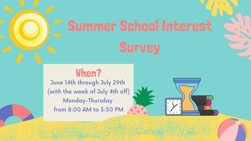 Summer School Interest Survey for Parents Thumbnail Image