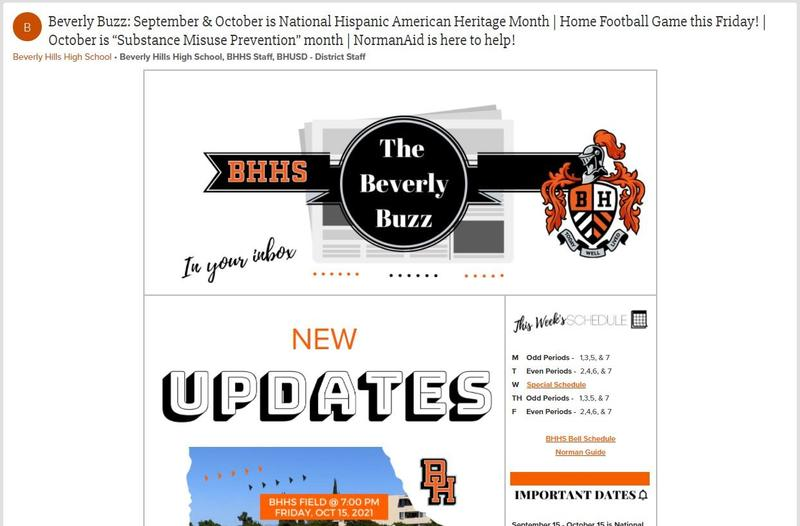 BHHS Newsletter - The Beverly Buzz - October 13, 2021