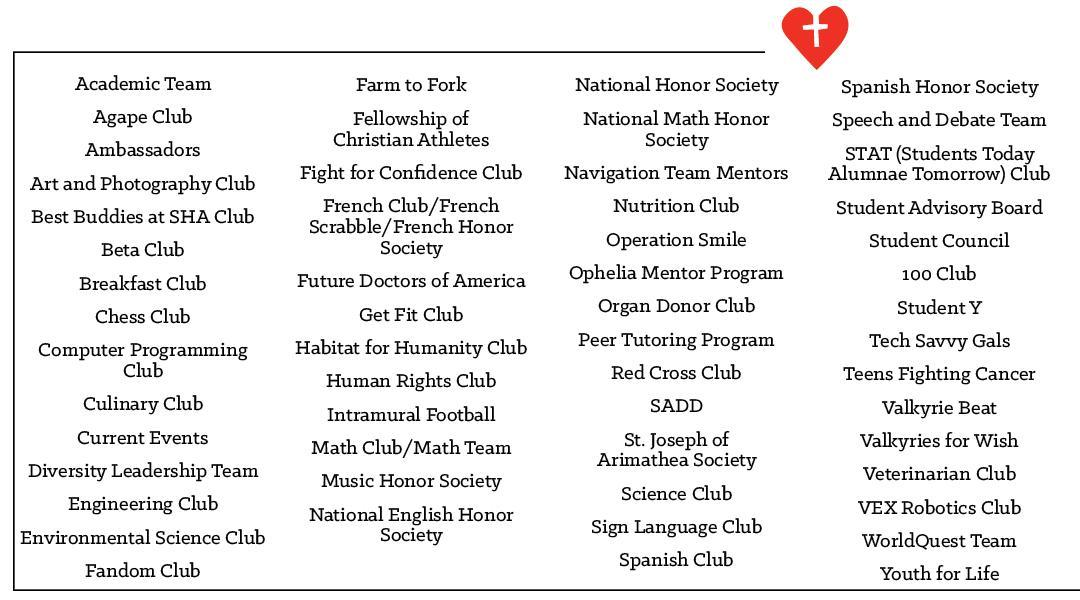 Clubs and Activities - Main Pages - Sacred Heart Academy