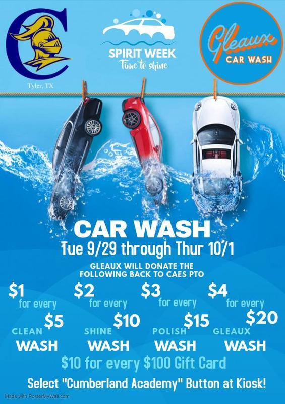 Spirit Week - Car Wash Featured Photo